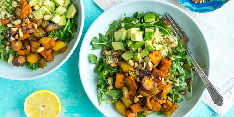 Roasted Winter Vegetable Quinoa Bowls