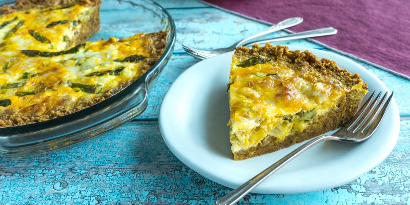 Asparagus-Fontina Quiche with Cracker Crust